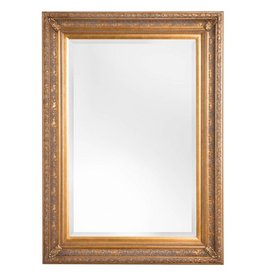Antibes - spiegel met barok gouden lijst van hout