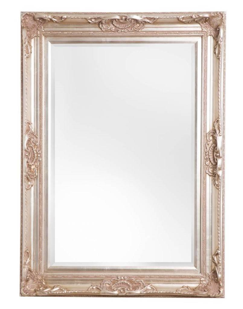 Nice sfeervolle spiegel met barok zilveren lijst for Goedkope barok spiegel