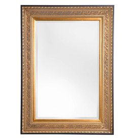La Spezia - spiegel met luxe gouden lijst met zwarte rand