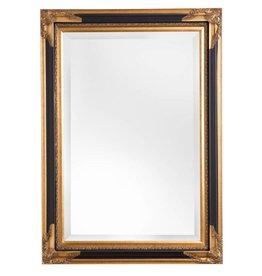 Naples - spiegel met zwart gouden lijst