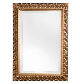Padua - spiegel met gouden lijst met bruine rand