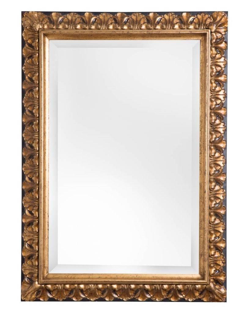 padua spiegel met gouden lijst met bruine rand