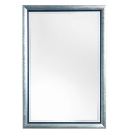 Atessa - spiegel met moderne zilver met blauwe lijst