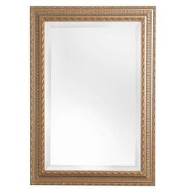 Nyons - spiegel met gouden barok lijst met ornament
