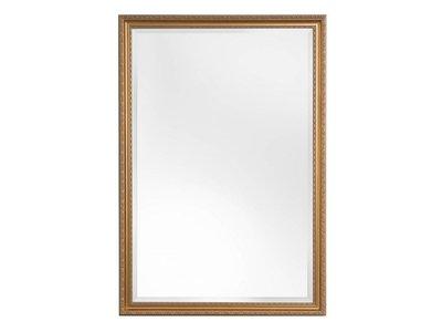 San Salvo - Klassieke Spiegel met Golfpatroon - Goud Gekleurd Frame
