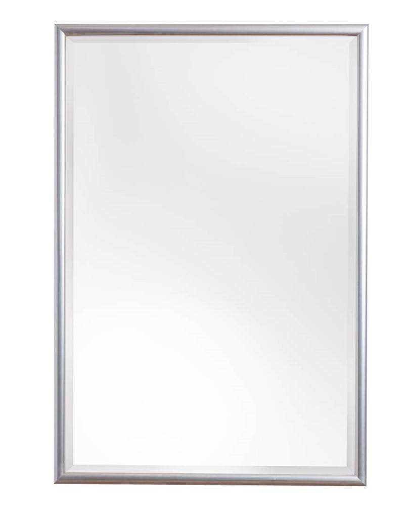 Torretta spiegel met zilveren lijst kunstspiegel for Grote zilveren spiegel