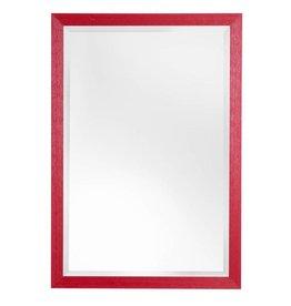 Le Vigan - sfeervolle betaalbare spiegel met rode lijst