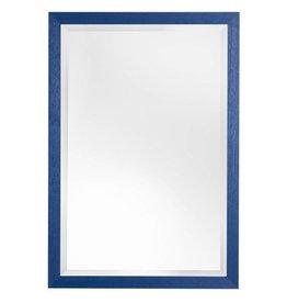 Xabia - sfeervolle betaalbare spiegel met blauwe lijst