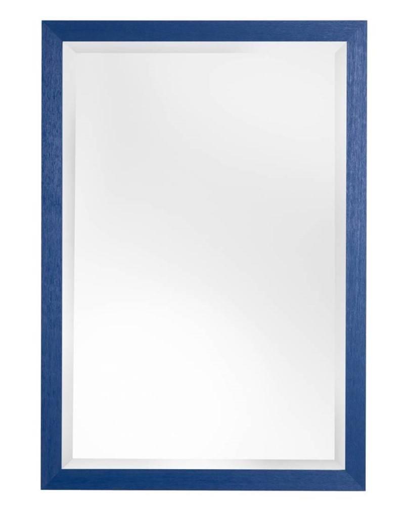 Betaalbare Xabia spiegel met blauwe lijst