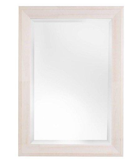 Bianco spiegel met witte houten lijst for Houten spiegel