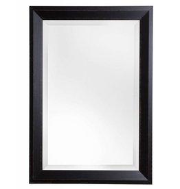 Nantes - Brede Moderne Spiegel - Geschilderd Zwart Gekleurd