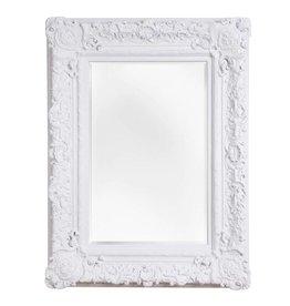 Palermo - spiegel met barok witte lijst