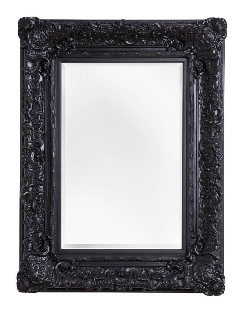 Palermo spiegel met barok zwarte lijst for Zwarte spiegel