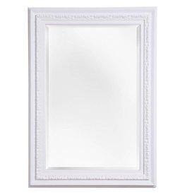 Murcia - facet spiegel met unieke witte lijst