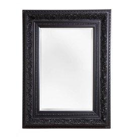 spiegel met zwarte barok lijst met kuif. Black Bedroom Furniture Sets. Home Design Ideas