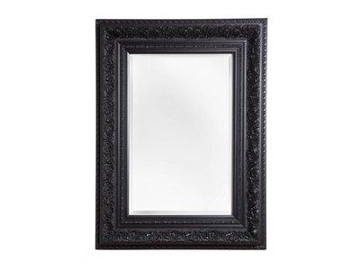 Genova - Luxe Barok Spiegel met Windmotief - Zwart Gekleurd