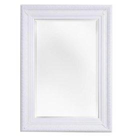 Antibes - spiegel met barok witte lijst van hout
