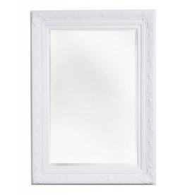 Turin - sfeervolle spiegel met barok witte lijst