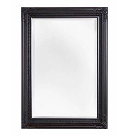 Naples - spiegel met zwart lijst met ornament op de hoeken