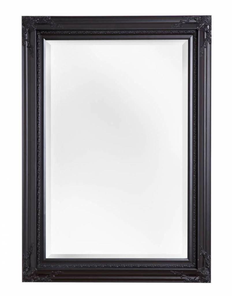 Naples - Luxe Spiegel met Hoekornamenten - Kleur Zwart