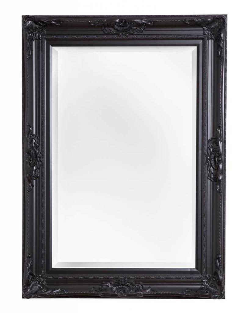 Ferrara zwart met spiegel in de aanbieding kopen for Spiegel met zwarte lijst
