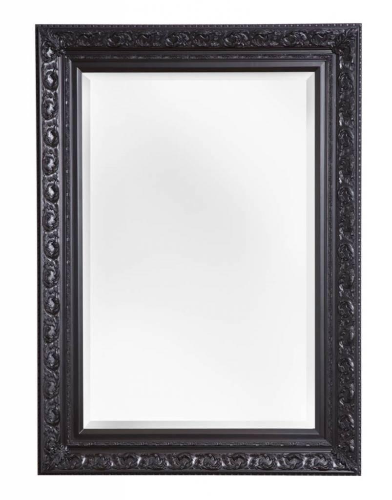 Savona spiegel met zwarte brocante lijst kunstspiegel for Spiegel zwarte lijst