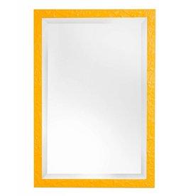 Metz - leuke spiegel met gele lijst