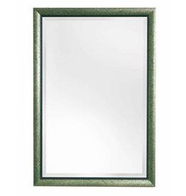 Atessa - spiegel met moderne zilver met groene lijst