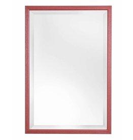 Lille - spiegel met smalle rode lijst