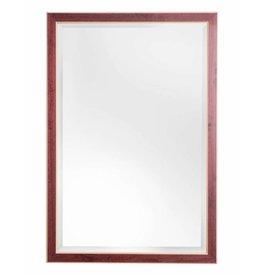 Bremen - spiegel met rode lijst met houten rand