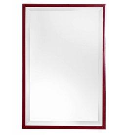 Levie - betaalbare spiegel met smalle rode lijst