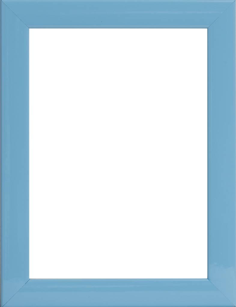 Levie - moderne blauwe fotolijst