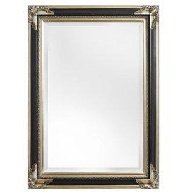 Naples - Spiegel met zilver zwarte lijst