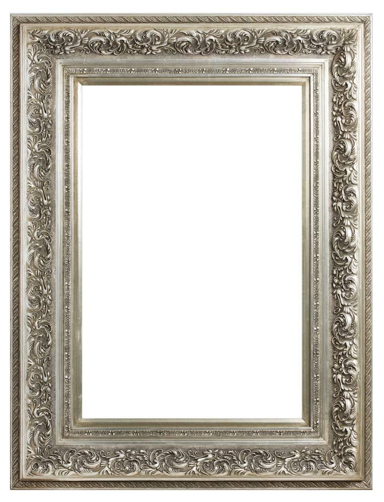 Genova - zilveren barok lijst van hout
