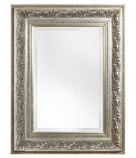 nice sfeervolle spiegel met barok zilveren lijst