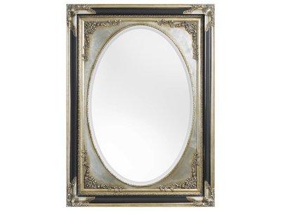 Tivoli - klassieke ovale zwart/zilveren spiegel