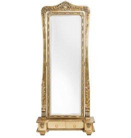 Latina - Verstelbare Klassieke Passpiegel - Goudkleur - 40cm x 125cm