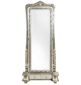 Latina - Verstelbare Klassieke Passpiegel - Zilverkleur - 40cm x 125cm