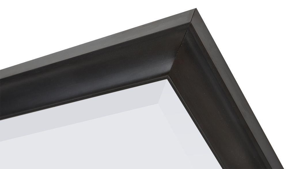 Spiegel Zwarte Lijst : Haarlem tijdloze markante spiegel kleur zwart kunstspiegel