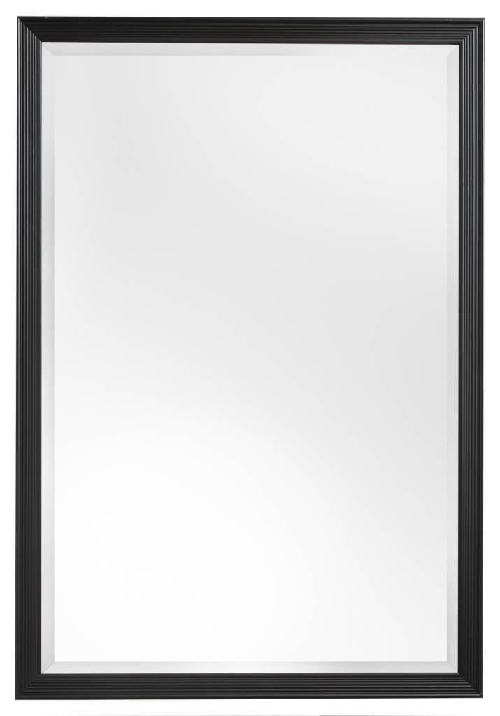 Helsinki spiegel met zwarte lijst met lijnen kunstspiegel for Spiegel met zwarte lijst