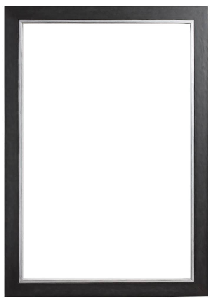 modena luxe zwart met zilveren lijst kunstspiegel. Black Bedroom Furniture Sets. Home Design Ideas