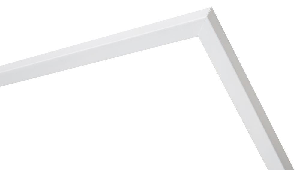 Cosenza - smalle houten lijst in wit