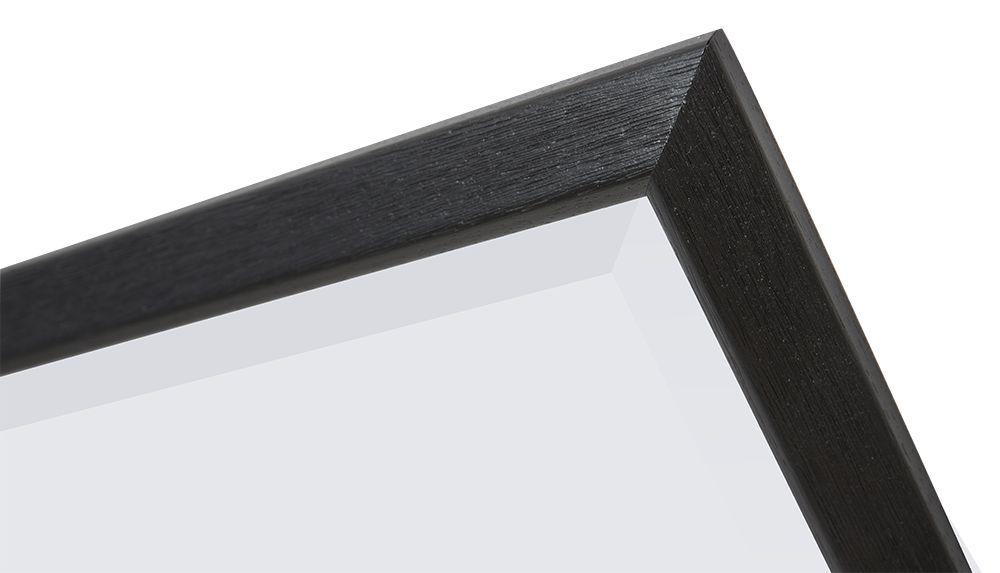 Lille - spiegel - zwart/hout