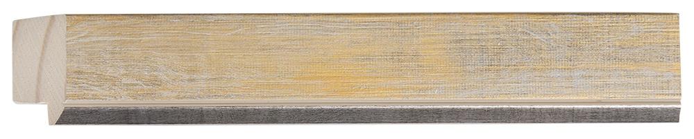 Rimini - smalle geel-gouden lijst met zilver