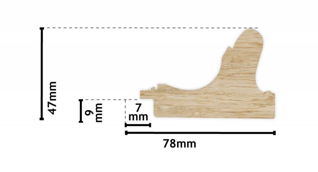 Sicilia - gouden lijst van hout