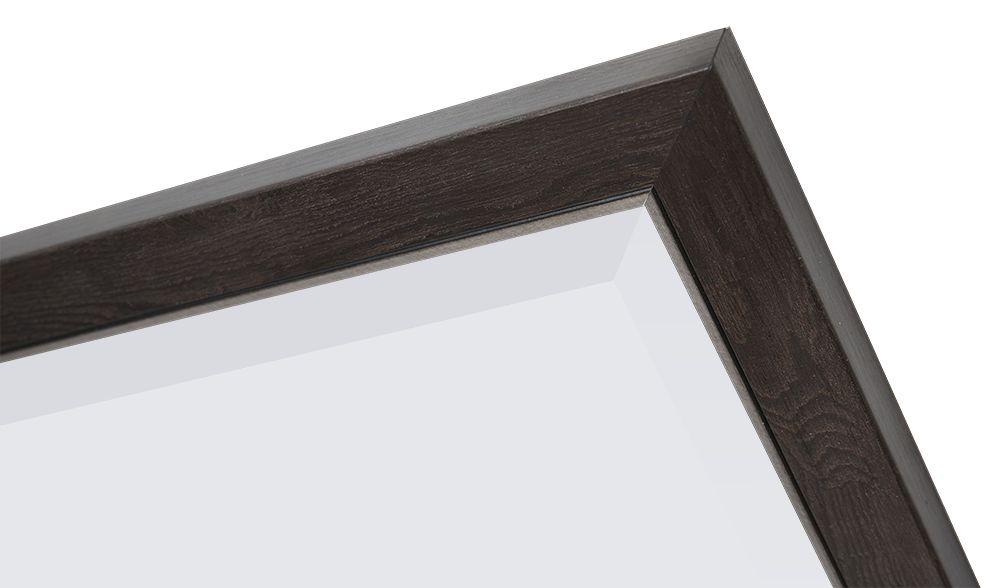 Rimini - spiegel met smalle donker bruine lijst met zilver