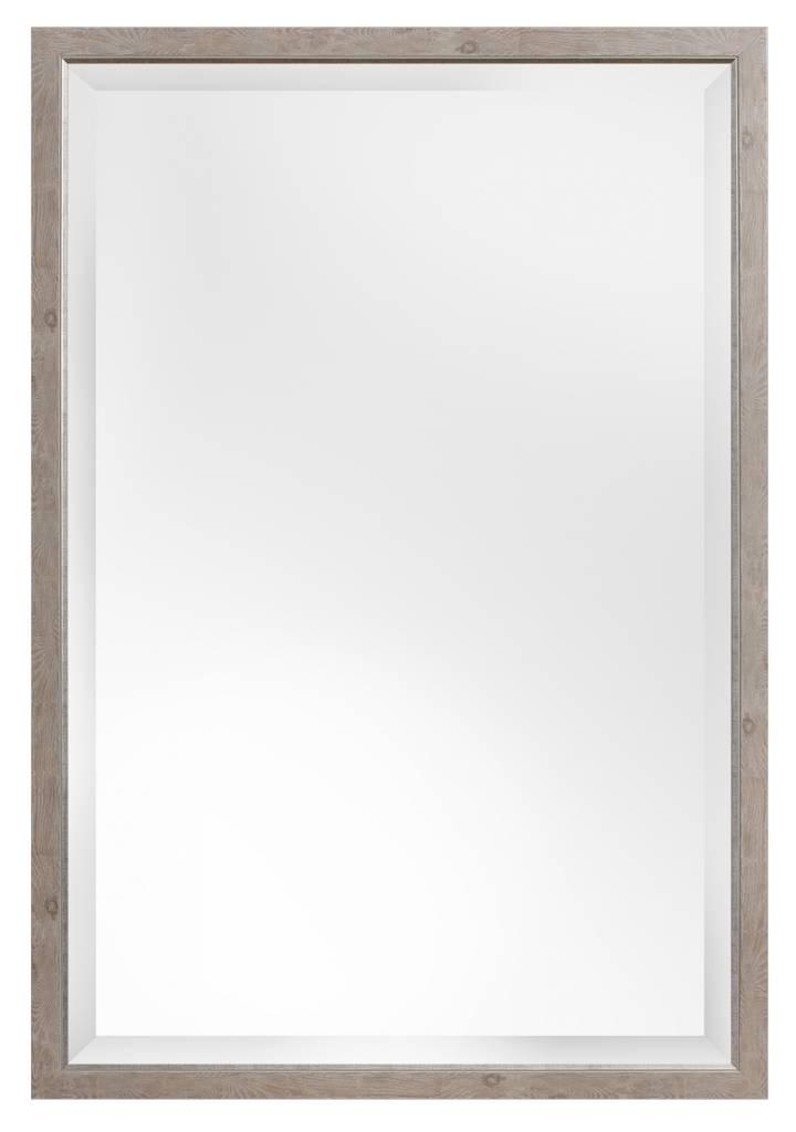 rimini spiegel met smalle licht bruine lijst met zilver. Black Bedroom Furniture Sets. Home Design Ideas
