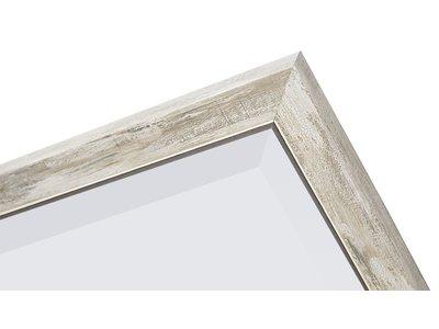 Rimini - spiegel - zilver/hout