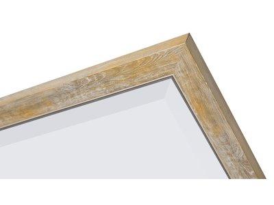 Rimini - spiegel met smalle geel-gouden lijst