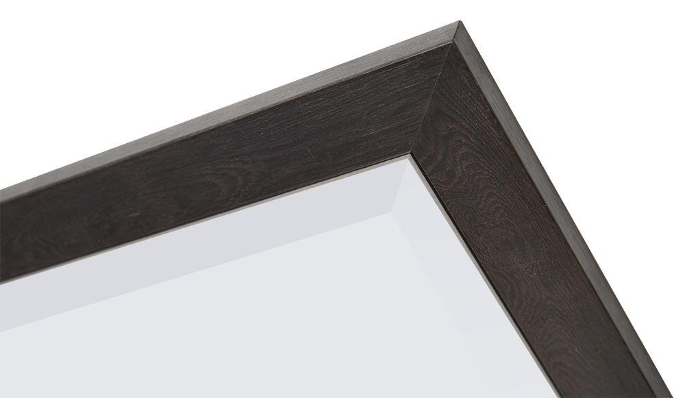 Rimini Grande - spiegel met donker bruine lijst met zilver